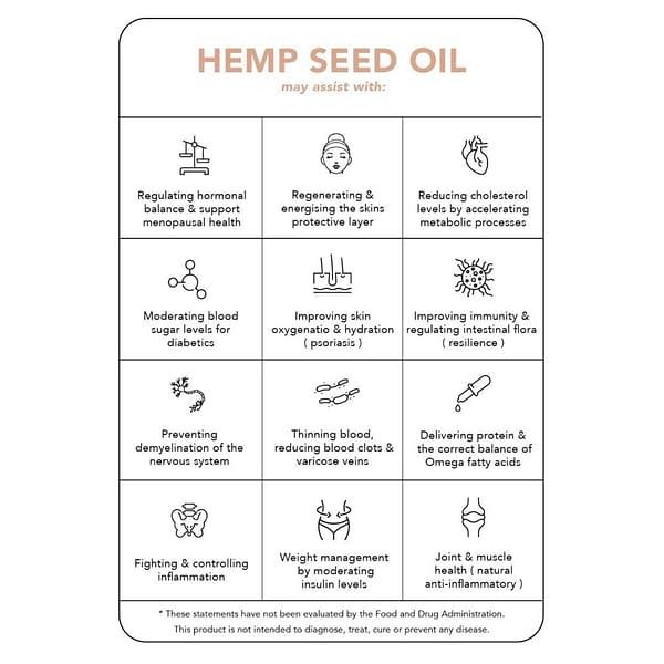 Tonik 4 - Organic Hemp Seed Oil