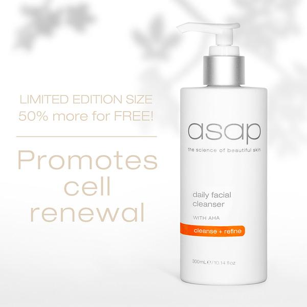 asap daily facial cleanser 300ml
